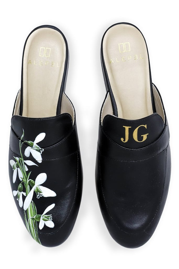 Hand-Painted Monogramed Mules