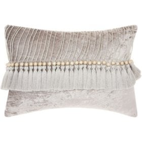 Mina Victory Life Styles Velvet Tassels Throw Pillow