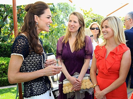 Kate Meets Reese Witherspoon at Charity Event