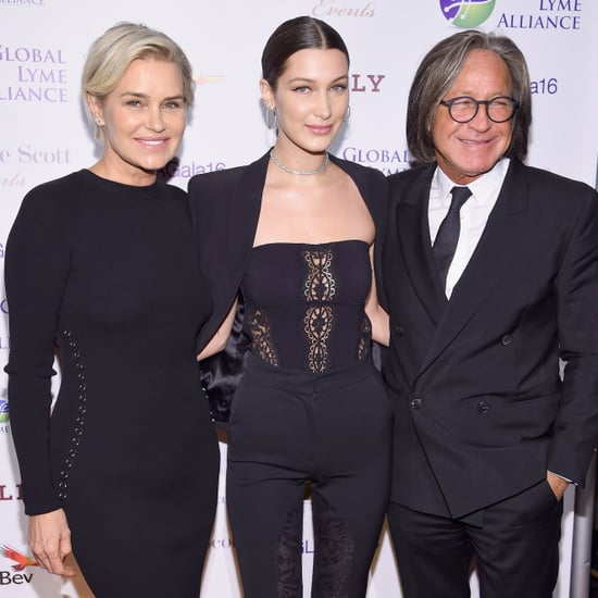 Bella Hadid With Her Parents at Lyme Alliance Gala 2016