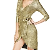 ANGVNS Women's Sequin 3/4 Sleeve V Neck High Low Dress