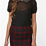Pins and Needles Jeweled-Collar Blouse ($59)