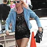 Naomi Watts continued wearing her fake pregnant belly on the set of St. Vincent de Van Nuys on Tuesday in NYC.