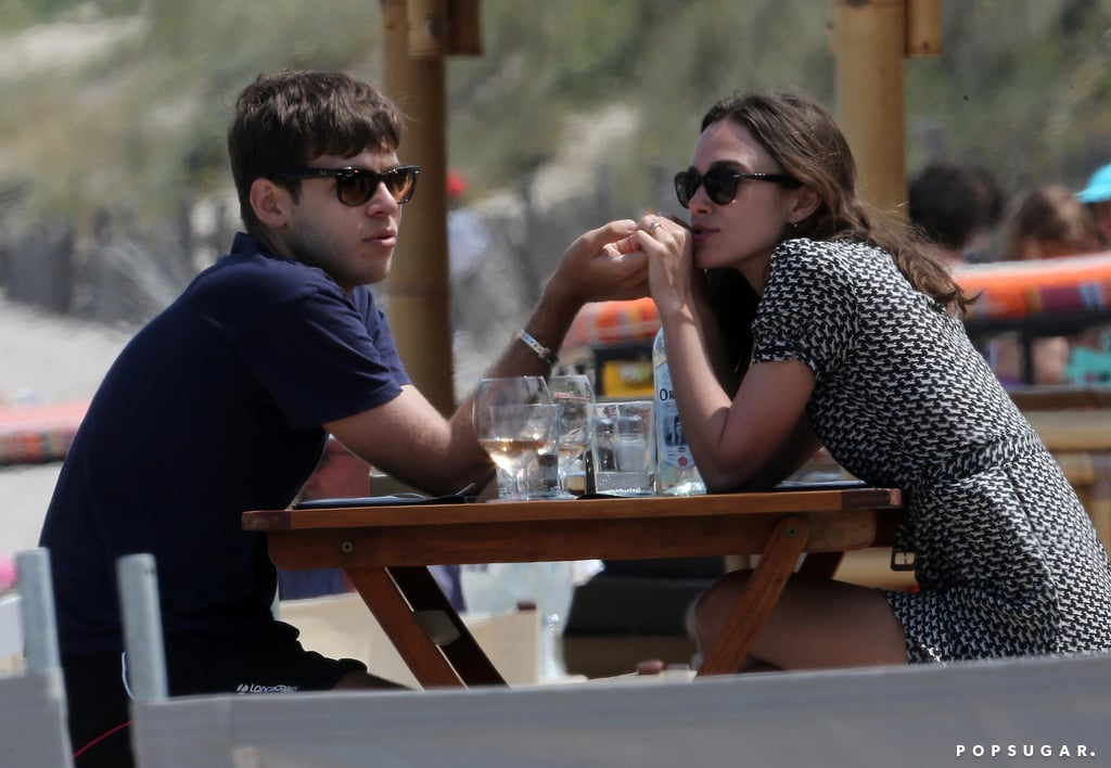 James Righton and Keira Knightley dined alfresco.