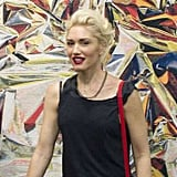 Gwen Stefani stopped by to view the artwork.