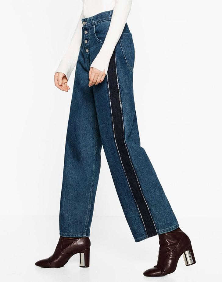 Zara Side Stripes Wide Leg Jean ($50)