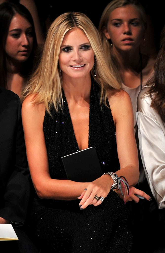 Heidi Klum at the Project Runway fashion show.