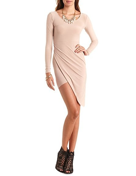 Charlotte Russe Asymmetrical Bodycon Dress