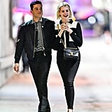 Rami Malek and Lucy Boynton Matching Outfits January 2019