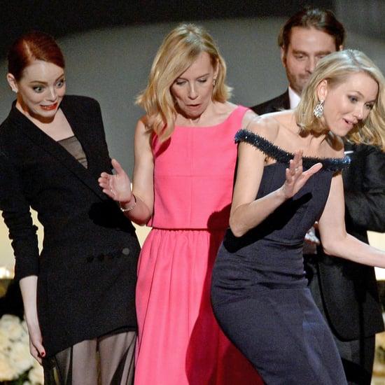 Emma Stone Tripping Naomi Watts at the SAG Awards 2015