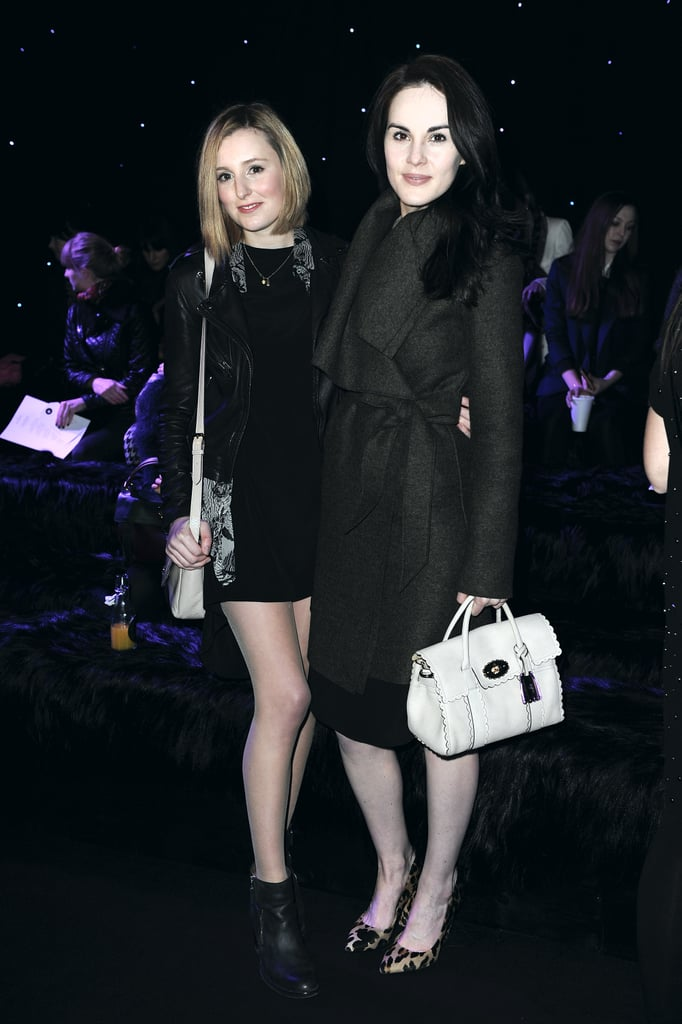 Laura Carmichael and Michelle Dockery posed at Mulberry.