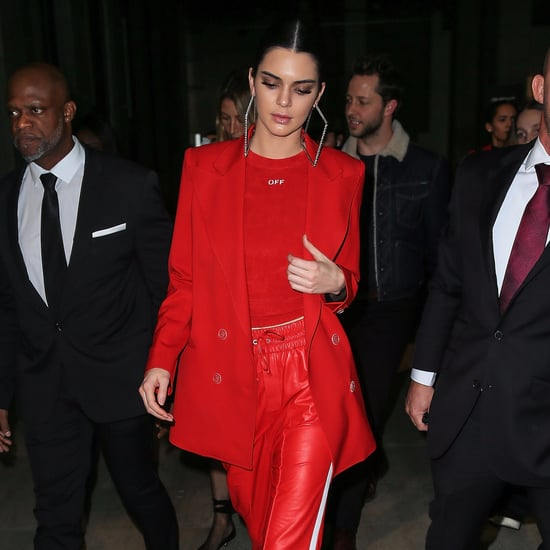 Kendall Jenner in a Race-Car-Inspired Outfit