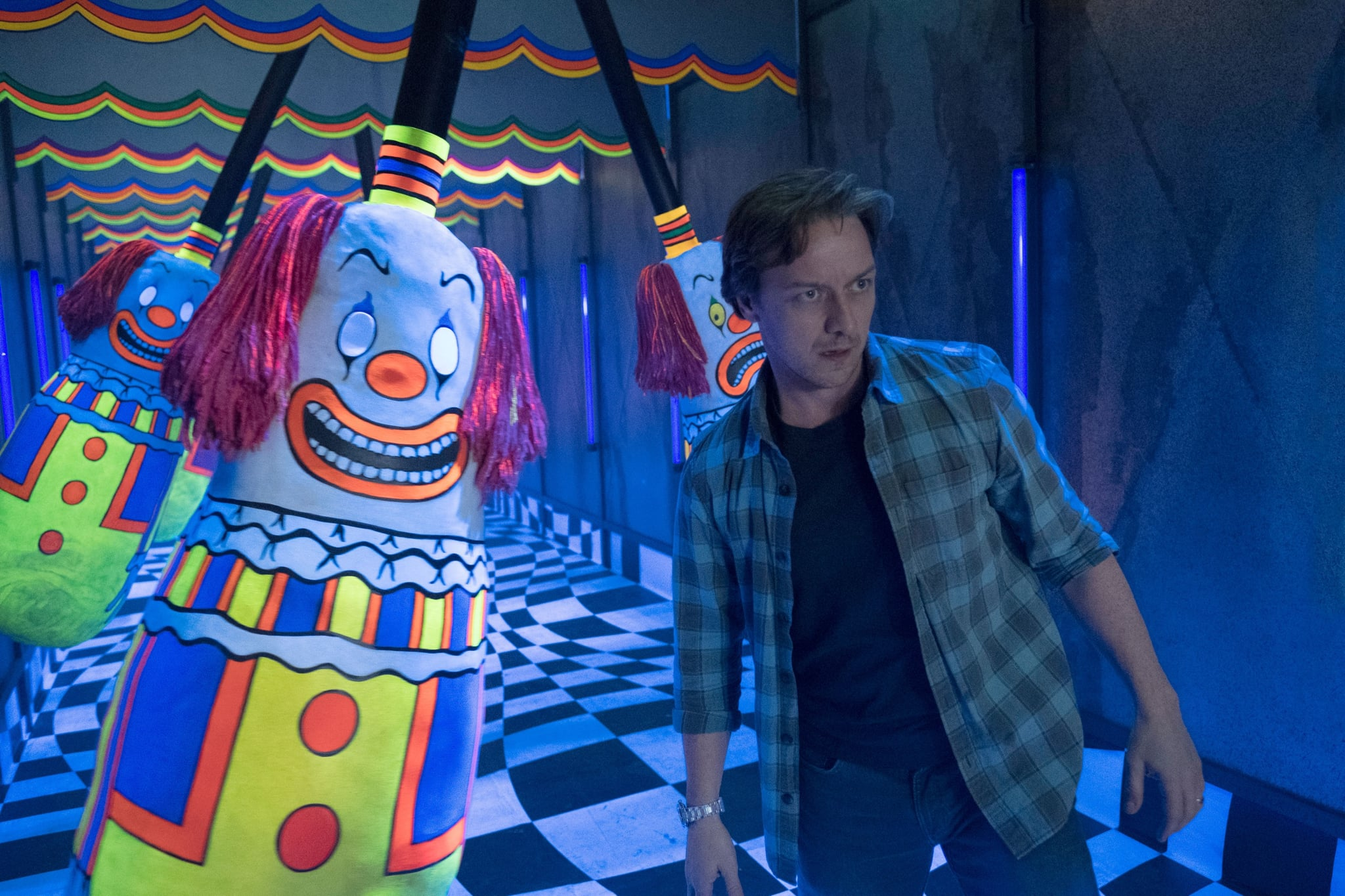 IT CHAPTER TWO, James McAvoy, 2019. ph: Brooke Palmer /  Warner Bros. / courtesy Everett Collection