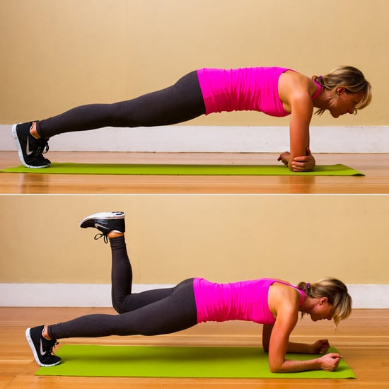 Image result for Plank with donkey kicks""