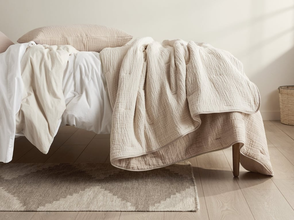 Parachute Cloud Cotton Quilt in Natural and Ivory