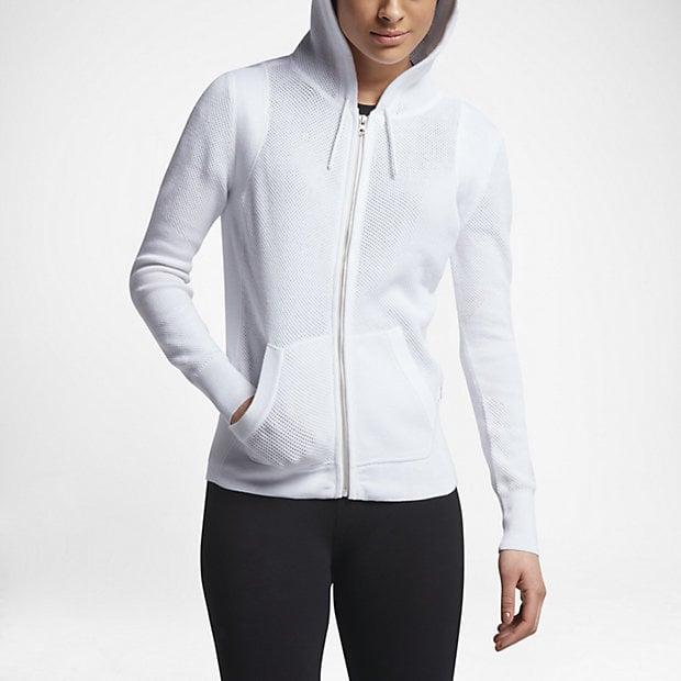 Converse Knit Full-Zip Women's Hoodies White