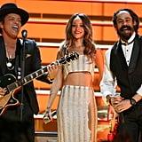 Bruno Mars, Rihanna, and Damian Marley