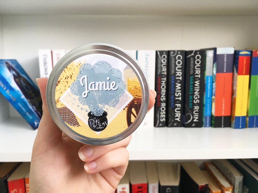 Jamie candle ($8) with notes of hay, clove, dry tobacco, and sandalwood.
