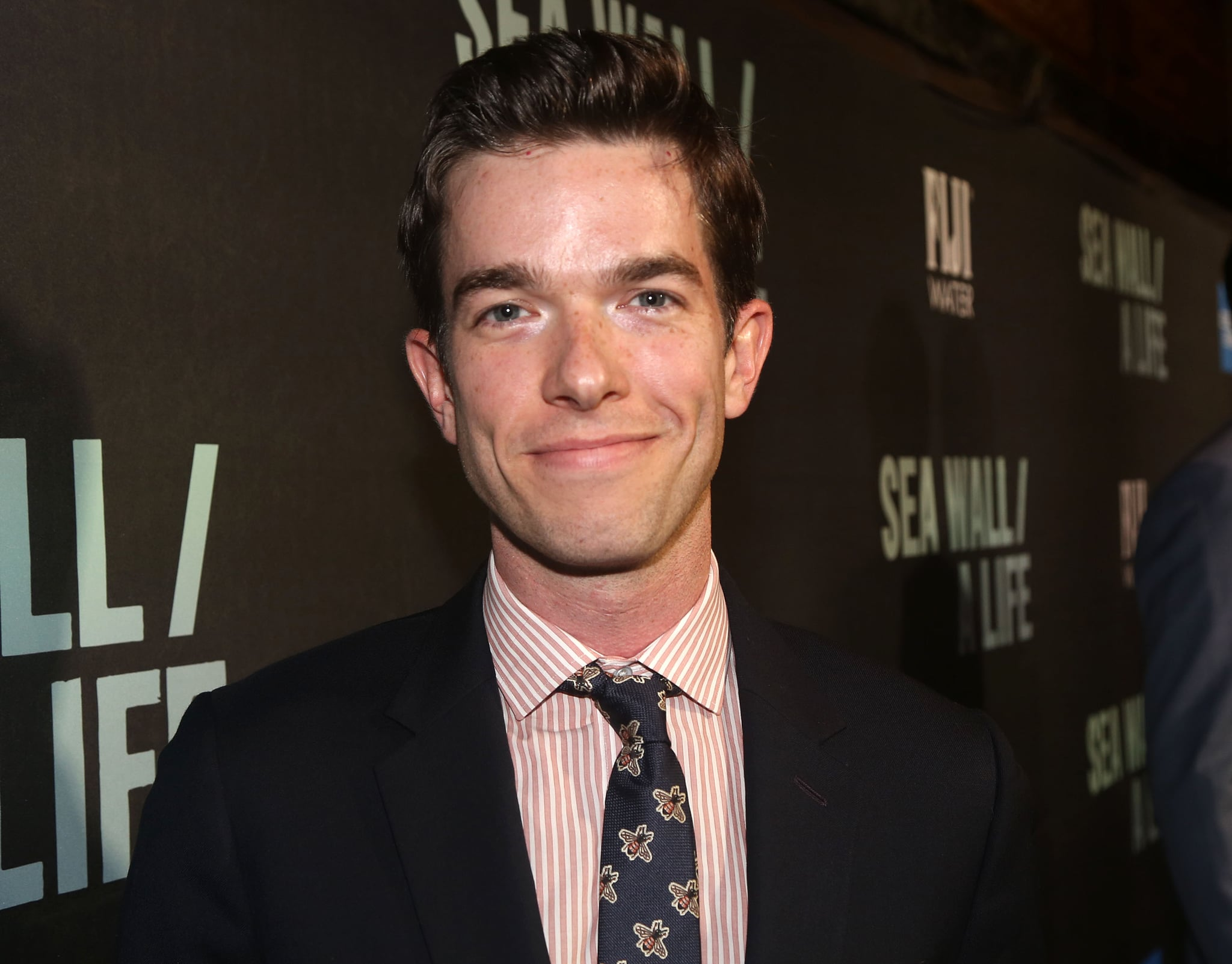 NEW YORK, NY - AUGUST 08: John Mulaney poses at the opening night of