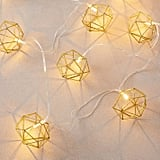 Glitter Geo Light-Up Garland