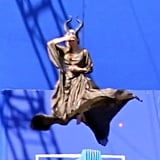 Angelina Jolie on Maleficent Set