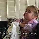Mila on Going to Preschool