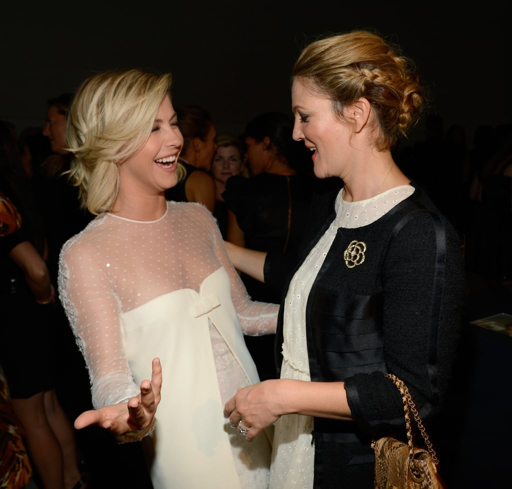 Julianne Hough and Drew Barrymore had a laugh.