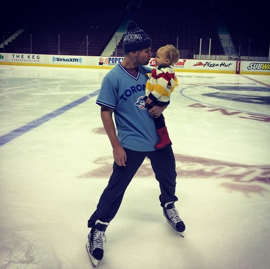 "In March 2015, he hit the ice with his daughter at Rogers Arena in Vancouver, calling it the ""Best. Day. Ever."""