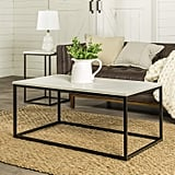 WE Furniture Modern Open Rectangle Coffee Accent Table