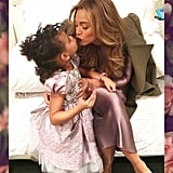 Beyonce and Blue Ivy Kissing April 2016