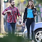 Shia LaBeouf and new girlfriend Mia Goth got coffee.