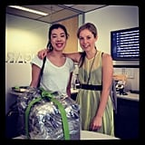 Ali with our very happy FabSugar giveaway winner Emily Quan. We're seriously loving her amazing blog, Oh my Gilded — check it out at ohmygilded.blogspot.com.au.