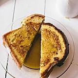 Peach and Mozzarella French Toast Sandwiches