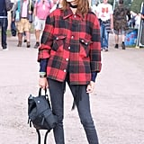 Alexa Chung at Glastonbury 2017