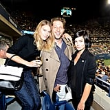Dree Hemingway, Derek Blasberg, and Leigh Lezark gave the US Open a majorly fashionable spin in their respective ensembles. Dree paired printed pants with a black and white bag, Derek donned a classic trench coat, and Leigh rocked a black Chanel jacket.