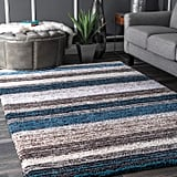 hags Solid & Striped Multi Hand Tufted Area Rug