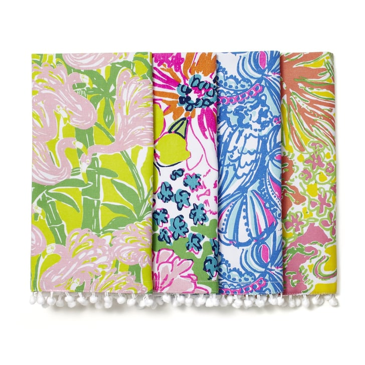 Napkins With Pom Poms 10 The Must Have Lilly Pulitzer For Target Home Decor Popsugar Home