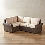 Echo Beach Latte Roll Arm 3-Piece Sectional