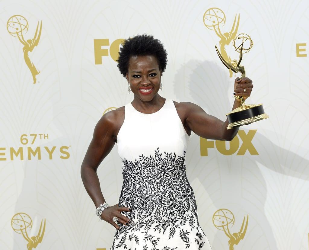 Viola Davis at the 2015 Emmy Awards