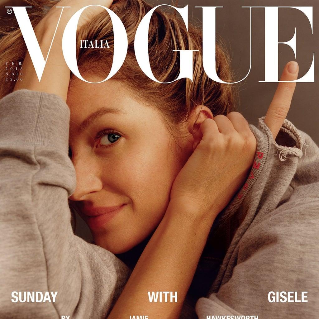 Gisele Bündchen Wearing No Makeup on Vogue Italia Cover