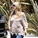 Sarah Michelle Gellar showed her baby bump in LA.