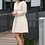 Princess Eugenie's Black Leather Headband March 2019