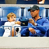 Tiger Woods and Son Charlie at the 2019 US Open