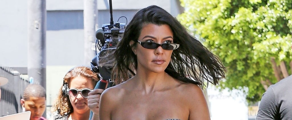 Kourtney Kardashian's Plaid Crop Top