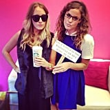 Member services' Grace nailed the attitude of Rachel Zoe while posing with hipster Alice in Wonderland Laura.