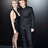 Maika Monroe and Joe Keery at the Saint Laurent Fall 2020 Show