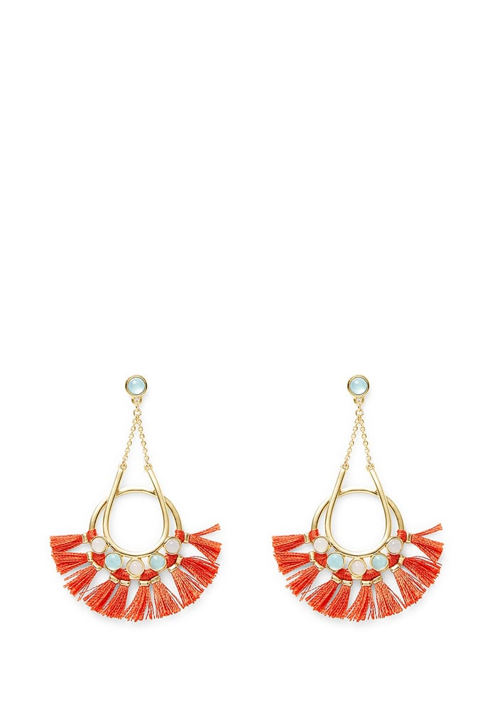 Wear hoops with a little something extra à la Rebecca Minkoff's Utopia Tassel Chandeliers ($98)