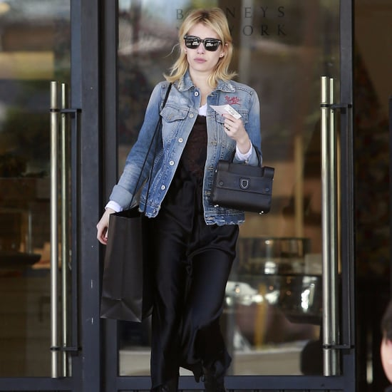 Emma Roberts Emma Denim Jacket December 2016