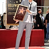 Ellen DeGeneres held up her plaque.