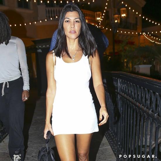 Kourtney Kardashian's White Ribbed Minidress